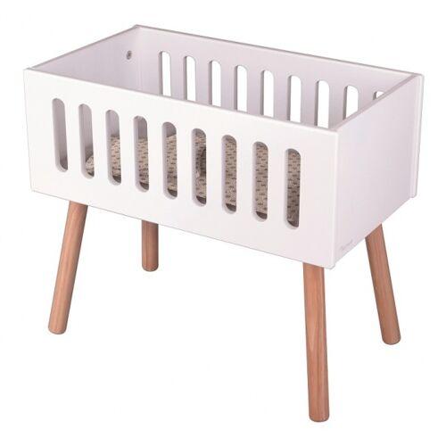 byAstrup puppenbett mit Matratze weiß für Puppen bis 50 cm Durchmesser