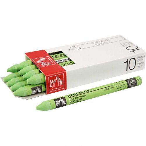 Caran d'Ache wachsmalstifte grün 10 cm 10 Stück