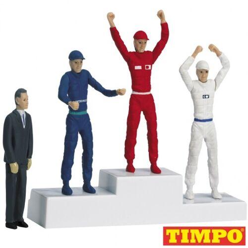 Carrera Formel 1 Sieger Podium mit vier Puppen 5,5 cm