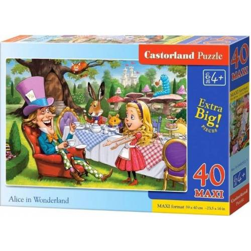 Castorland puzzle Alice in Wonderland junior karton 40 teile