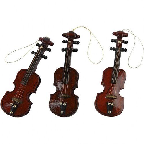 CCHobby dekorative Geige braun 8 cm 12 Stück