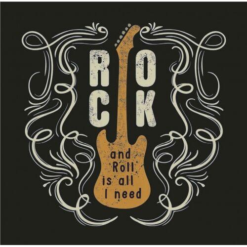 Chic.Mic leinwandbild 20 x 20 x 4 cm Gitarre