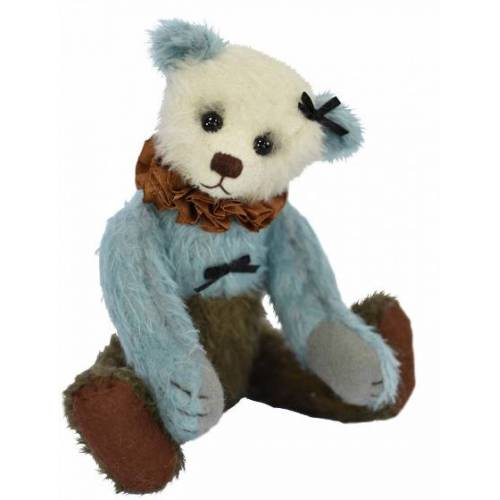 Clemens teddybär Teddy Melba 25 cm Plüsch weiß/blau/grün