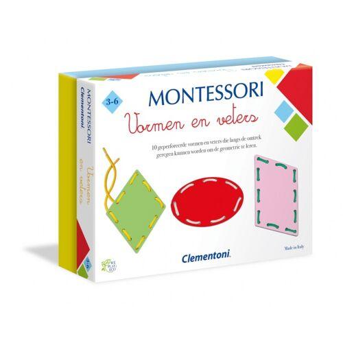 Clementoni Montessori Formen und Schnürsenkel mehrfarbig