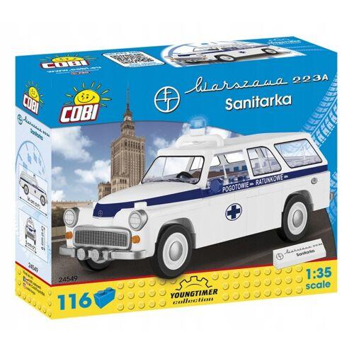 Cobi Youngtimer bausatz Ambulanz weiß/blau 116 teilig