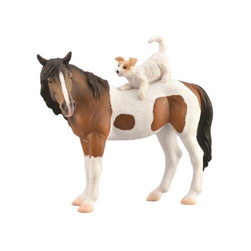 Collecta nutztiere Pferd Hund junior 12,5 cm braun/weiß