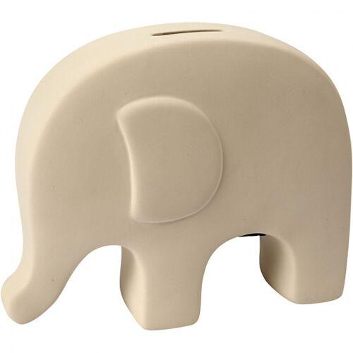 Creative sparschweinelefant 16,7 x 14 cm weiß