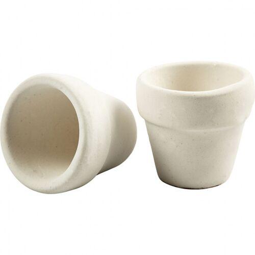 Creotime blumentopf 4,6 x 5,2 cm Terrakotta weiß 48 Stück