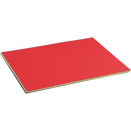 Creotime farbiger Karton 50 x 70 cm 10 Stück 210 g mehrfarbig