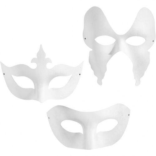 Creotime harlekin Masken weiß 12 Stück