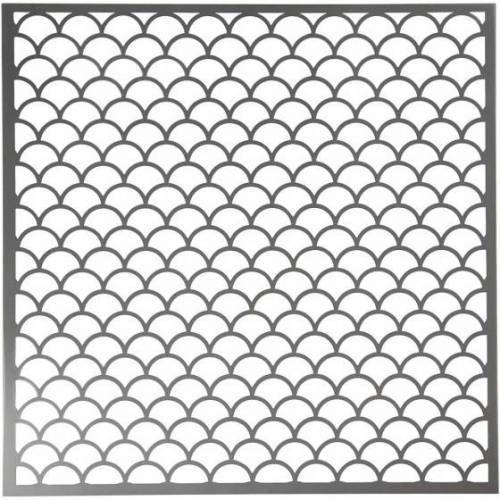 Creotime schablonenbogen Wellen 30,5 x 30,5 cm
