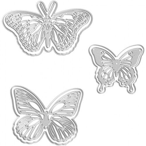 Creotime schneideschablone Schmetterling 5x4,5x6,5x5x5x8x4,5 cm