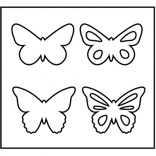 Creotime schneideschablone Schmetterlinge