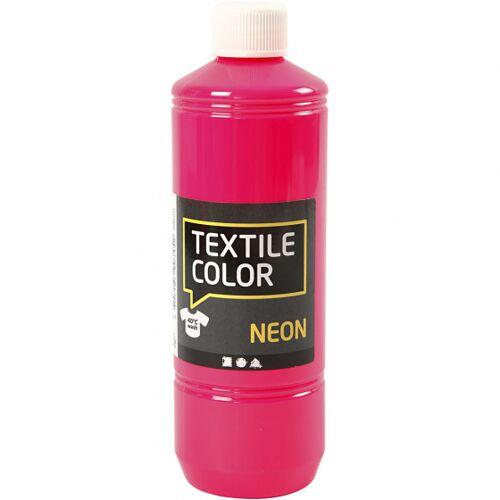 Creotime textilfarbe Neon 500 ml rosa
