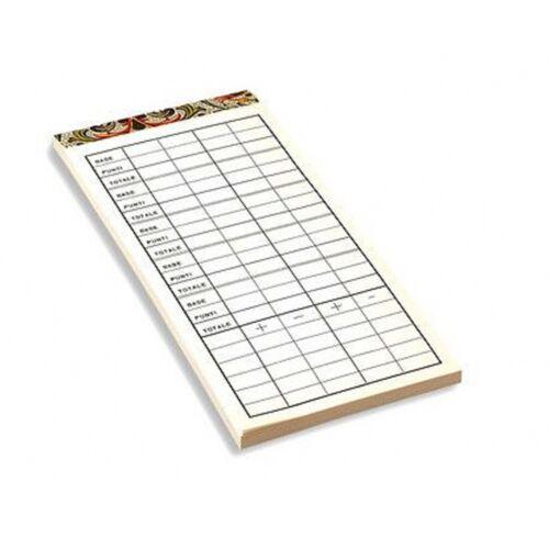 Dal Negro wertungsbuch Kartenspiel Canasta70 Seiten Papier weiß