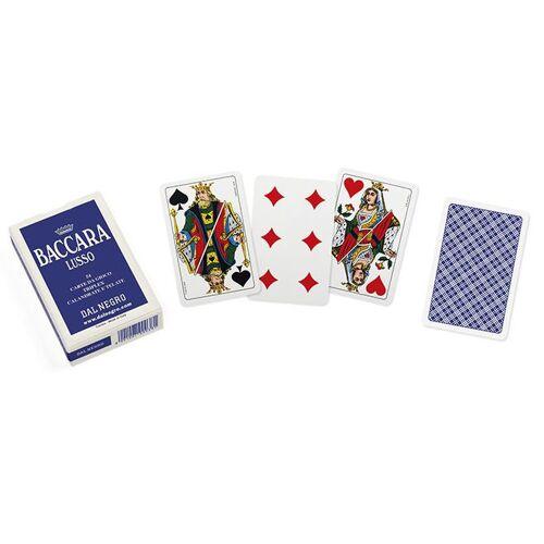 Dal Negro kartenspiel Baccara Lusso 5,8 cm Karton blau/weiss 54 Stück