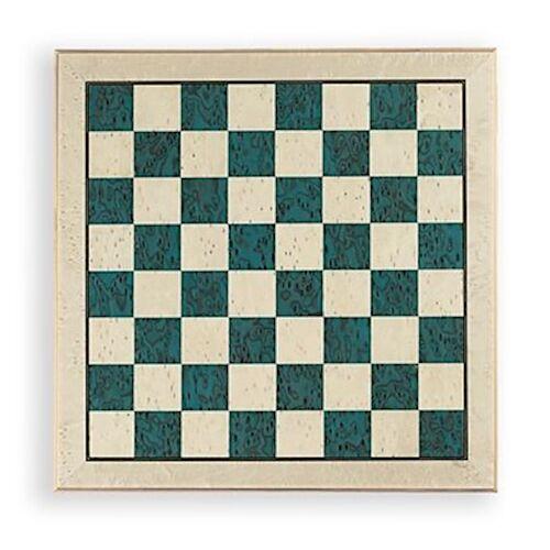 Dal Negro schachbrett 52 x 52 cm Holz blau/weiß