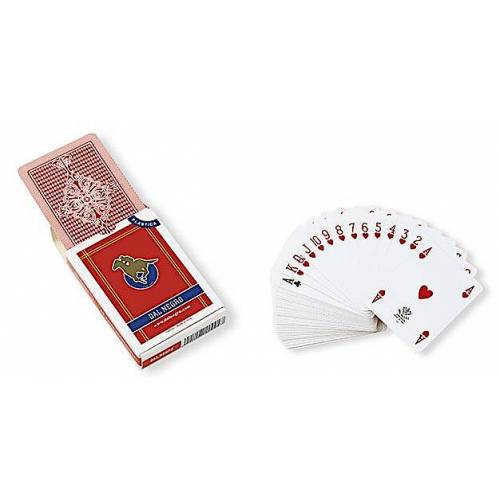 Dal Negro spielkarten 8,8 x 6,3 cm pvc rot 55 teilig