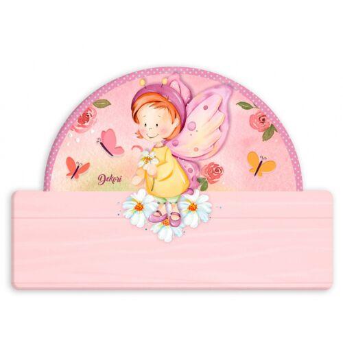 Dekori namensschild Schmetterling Mädchen 25 x 16 cm Holz rosa 2 teilig