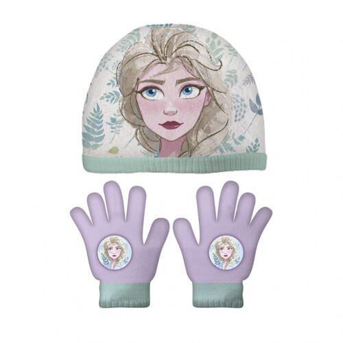 Disney handschuhe und Mütze Frozen II Acryl violett 3 teilig
