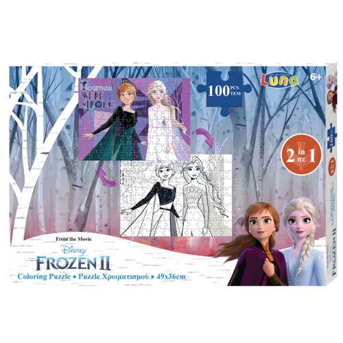 Luna ausmalbild und Puzzle Gefroren II 49 cm Karton 100 Teile
