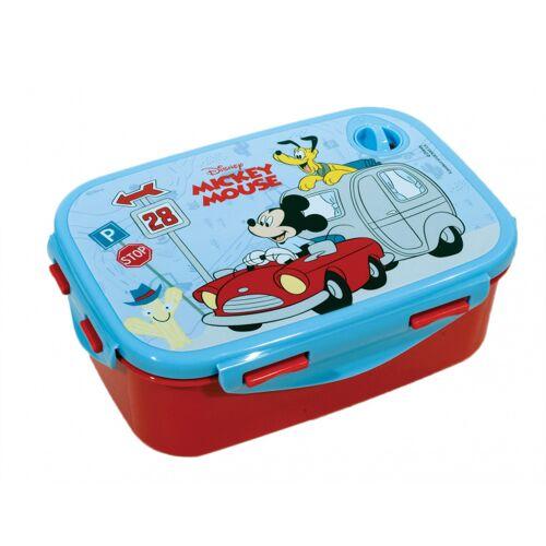 Disney lunchbox Mickey Mouse junior 2 teilig blau/rot