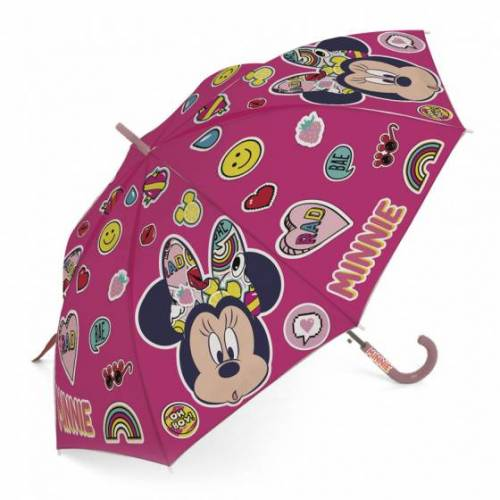Disney regenschirm Minnie Mouse junior 48 cm rosa emoji