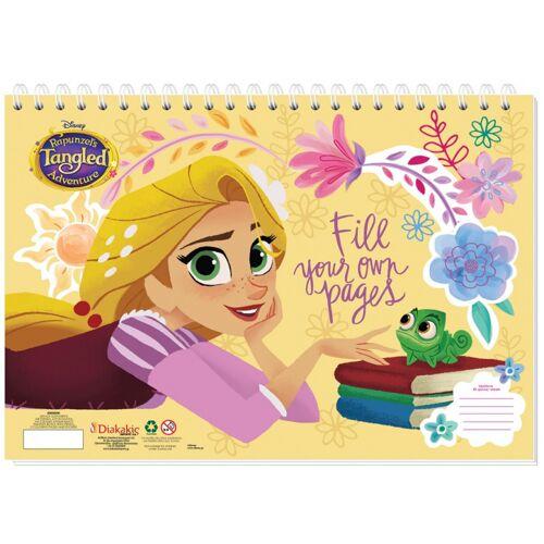 Disney aufkleber und Malbuch Rapunzel 33 cm Papier gelb