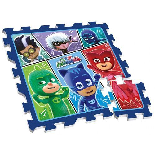 Disney bodenpuzzle PJ Masks junior 88 cm blau 9 teilig