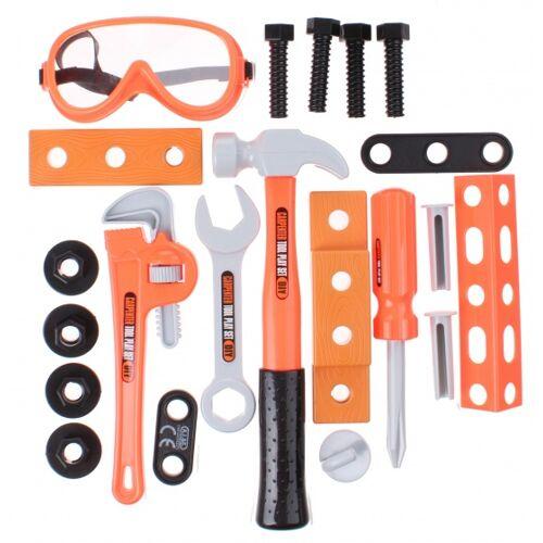 Eddy Toys Do it yourself Tischlerei Set 21 teilig orange