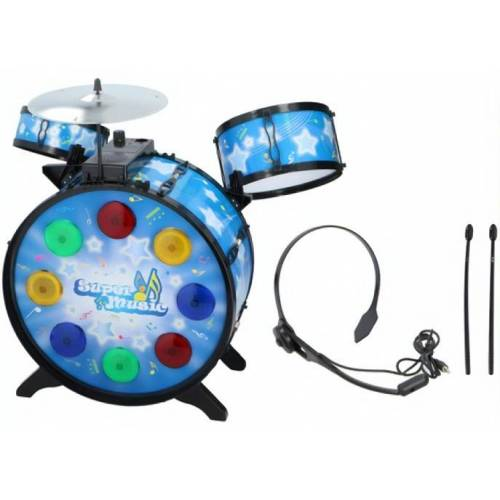 Eddy Toys schlagzeug mit Kopfhörer 53 cm blau