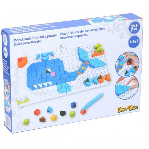 Eddy Toys mosaik Puzzle 4 in 1 Junior blau 248 teilig