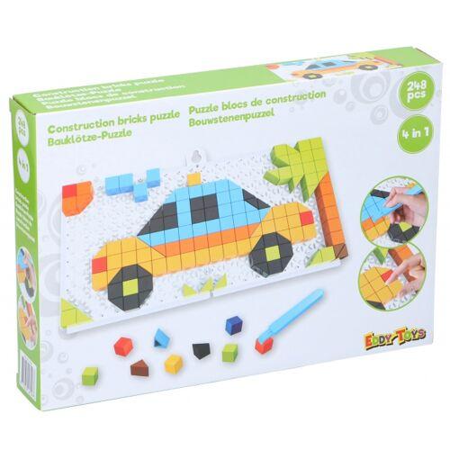 Eddy Toys mosaik Puzzle 4 in 1 junior grün 248 teilig