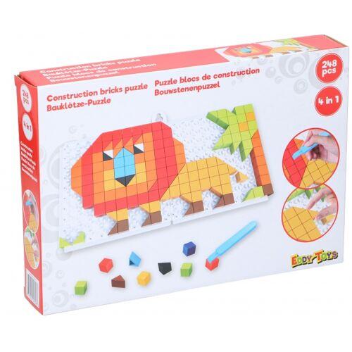 Eddy Toys mosaik Puzzle 4 in 1 Junior rot 248 teilig
