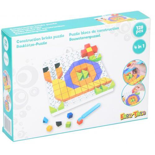 Eddy Toys mosaikpuzzle SlakJunior mintgrün 128 teilig