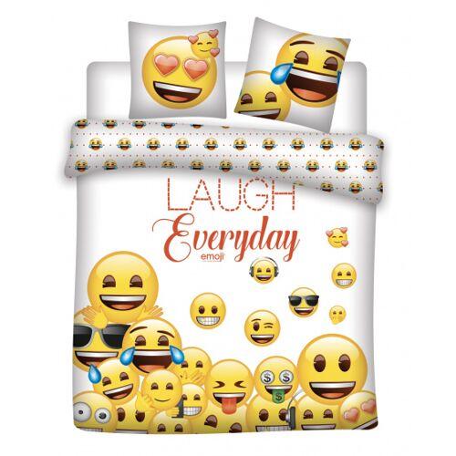 Emoji bettdeckenbezug Emoji240 x 220 cm PE weiß 3 teilig