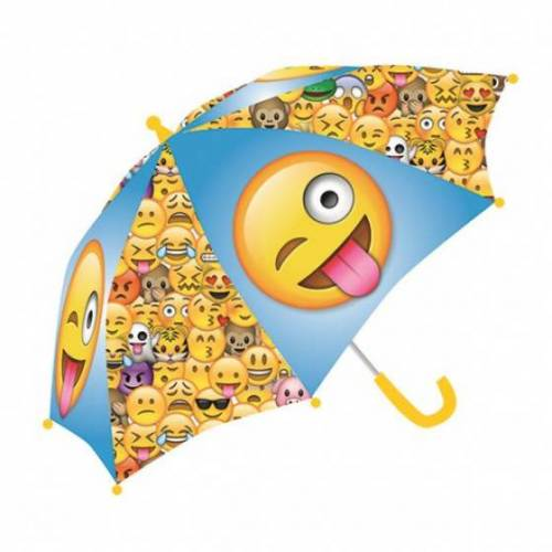Emoji regenschirm Emoticon junior 65 x 55 cm gelb