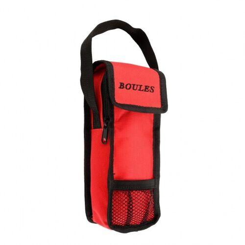 Engelhart pétanque Tasche rot/schwarz 23 x 8,5 x 3,5 cm