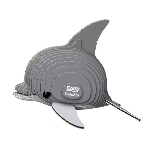 Eugy 3D Puzzle Delfin 7,5 x 6 cm grau 25 teilig