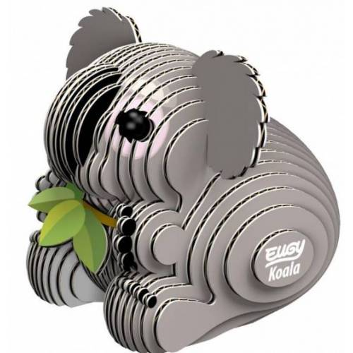 Eugy 3D Puzzle Koala 6 x 5 cm Pappe grau 32 teilig