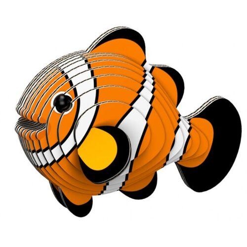 Eugy 3D Puzzle Fisch 8 x 6 cm Karton orange 30 teilig