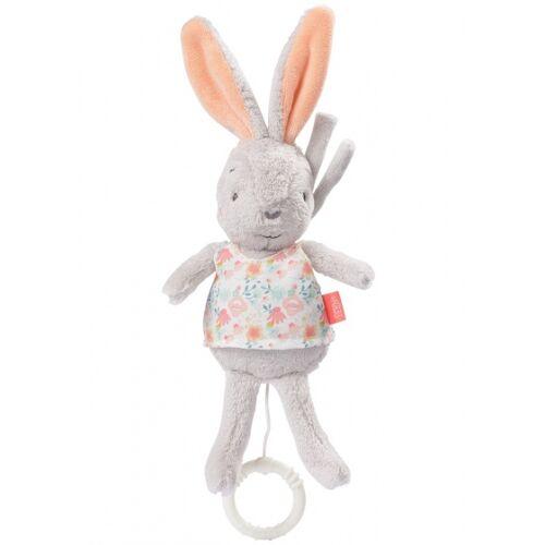 Fehn spieluhr Kaninchen 30 cm grau