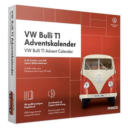 Franzis adventskalender VolkswagenBulli T1 rot 24 teilig