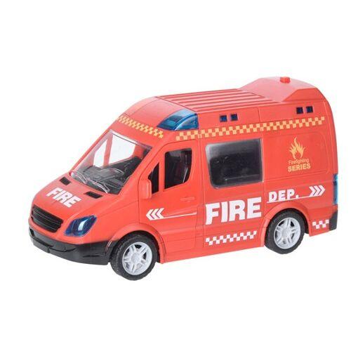 Free and Easy feuerwehrbus mit Licht und Ton 21 cm rot