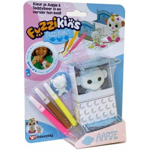 Fuzzikins bastelset Fuzzi Affenbaby 20 cm Karton 7 teilig