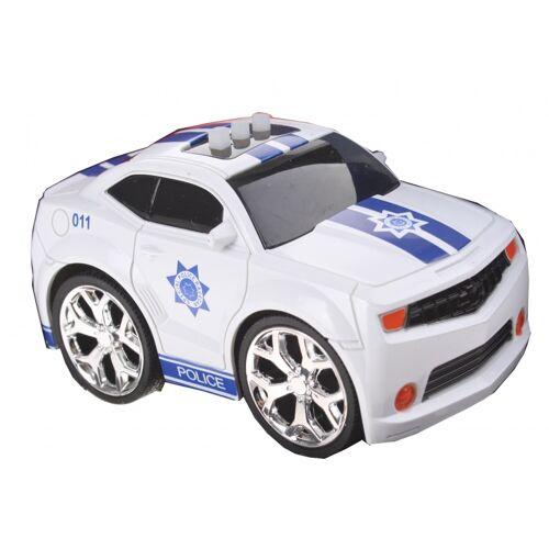 Gearbox Polizeiauto mit Ton weiß / blau 12 cm