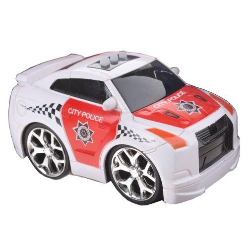 Gearbox Polizeiauto mit Ton weiß / rot 12 cm