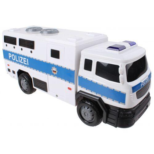 Gearbox polizeiauto Licht und Ton 28 cm weiß