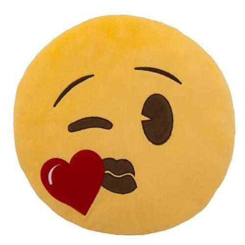 Generic kissen Emoji Kiss 30 cm Plüsch gelb