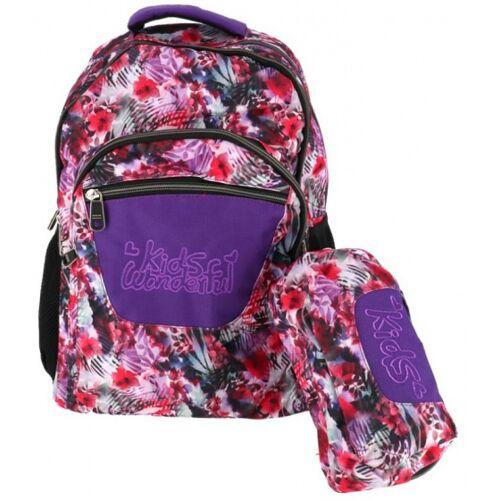 Gerimport rucksack mit Federtasche Junior 32 x 43 cm Polyester rot
